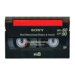 Hi-8 video tape for digital conversion